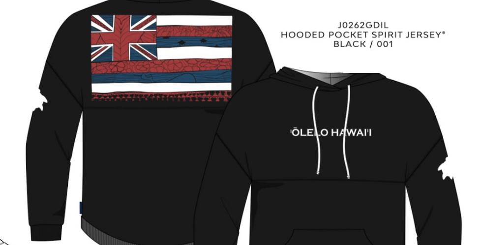 `ŌLELO HAWAI`I Spirit Jersey Hoodie