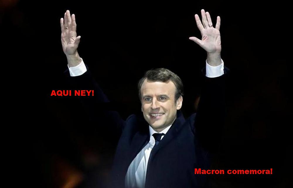 Macron comemora
