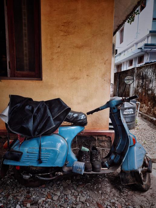 Vintage Blue Scooter