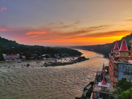 Sunset At Ganga