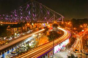 Nightlife from Howrah Bridge