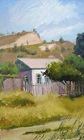 7Galini    Etude. Shiryaevo - die Heimat der Wolgatreidler von Ilja Repin 25cm x 40cm (201