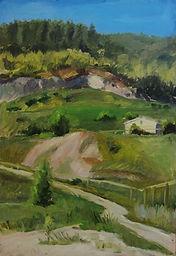 8Galini    Etude. Shiryaevo - die Heimat der Wolgatreidler von Ilja Repin 34cm x 50cm (201
