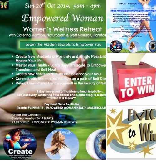 Go into the Draw to Win 1 day Immersion Workshop: Empowered Woman Health Masterclass