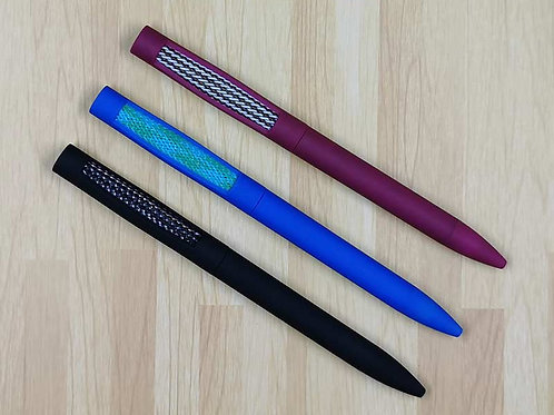 24 Mesh-It Pens: Black or Wine Colors, Black Ink