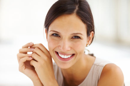 Gorgeous Young female smiling confidentl