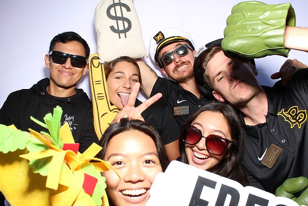 College Students Posing For Photo Booth Rental
