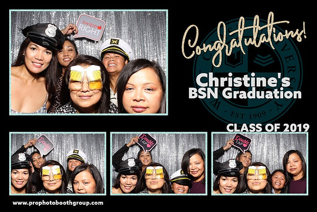 Photo Strip Of A Graduation Photo Booth Rentlal With 4 Photos