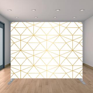 Premium Gold Triangle Backdrop