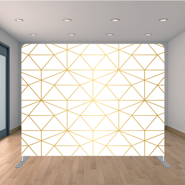 Premium Gold Triangle Backdrop