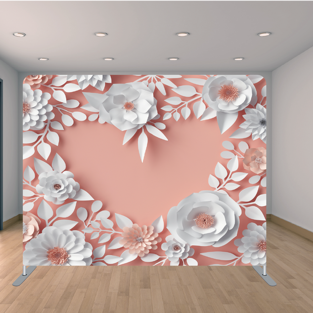 Premium Pink Heart Backdrop