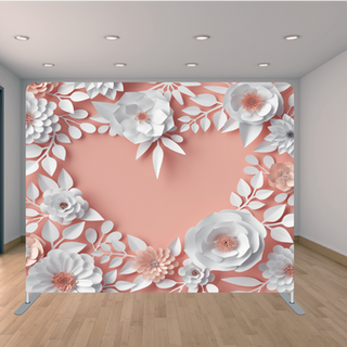 Premium Pink Heart Backdrop