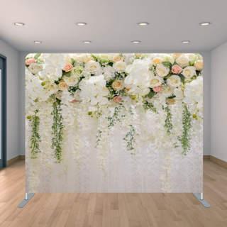 Premium Rose Flower Wall Backdrop