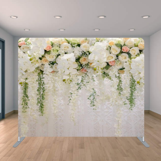 Premium Rose Flower Wall Backdrop