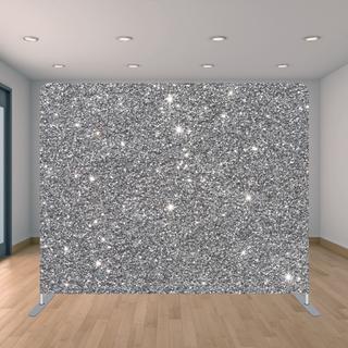 Premium Silver Glitter Backdrop