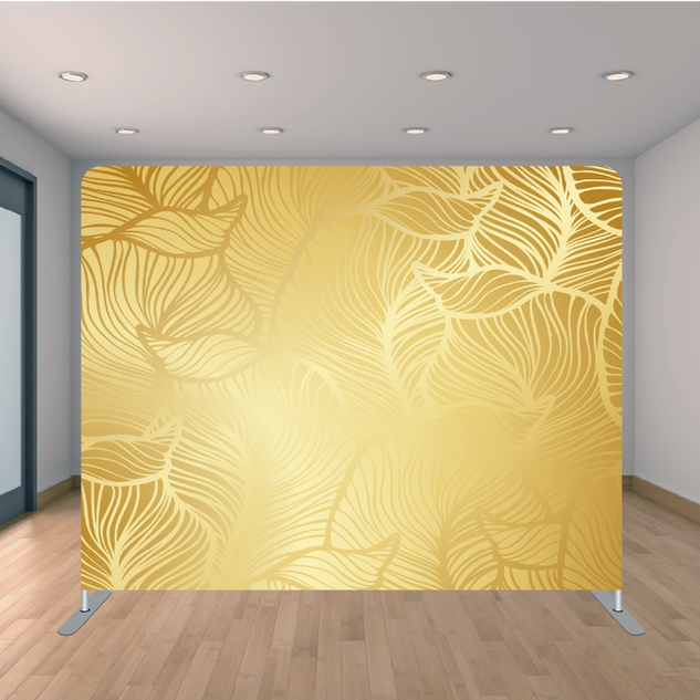 Premium Gold Leaves Backdrop