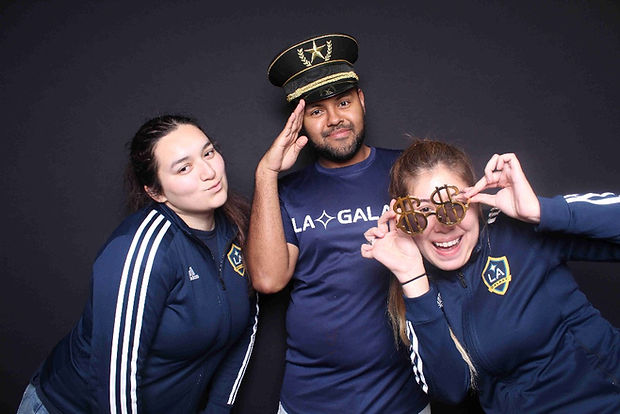 LA Galaxy Street Team Posing For Photo Booth Rental In Los Angeles