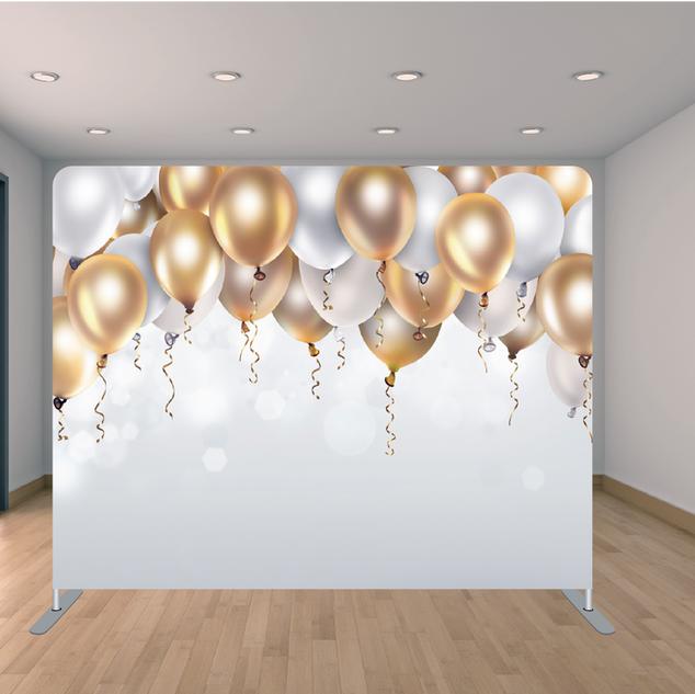 Premium White/Gold Balloon Backdrop