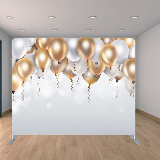 Premium White/Gold Balloon Backdrop