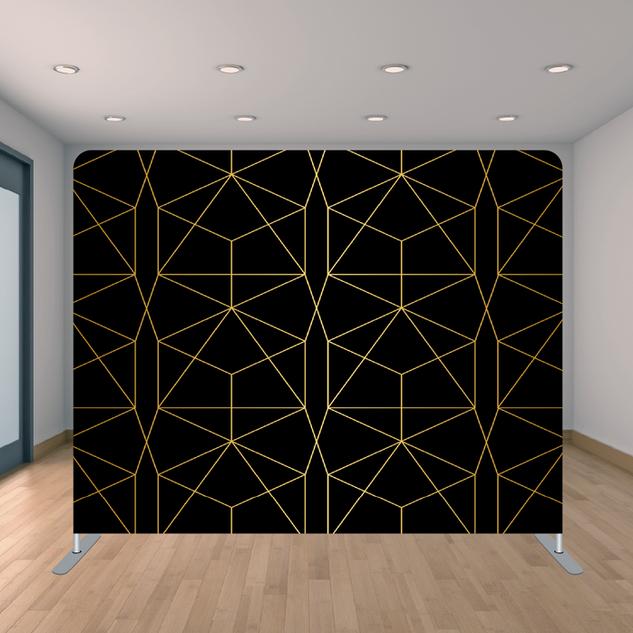Premium Black & Gold Triangle Backdrop