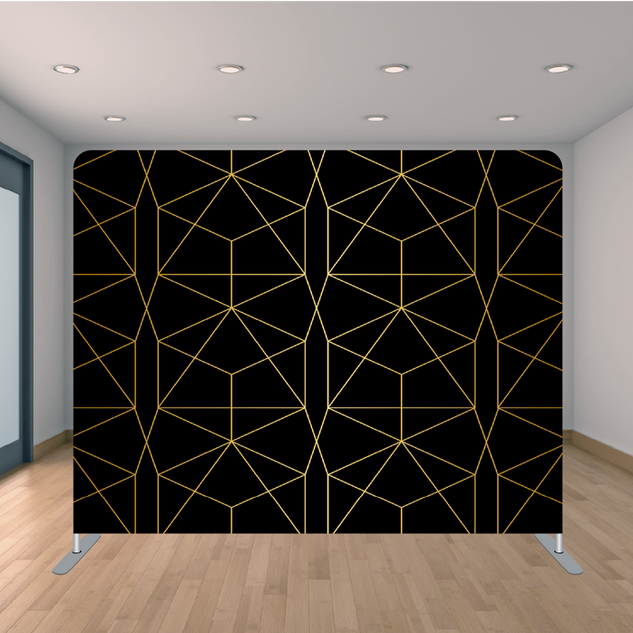 Premium Black & Gold Triangle Backdrop