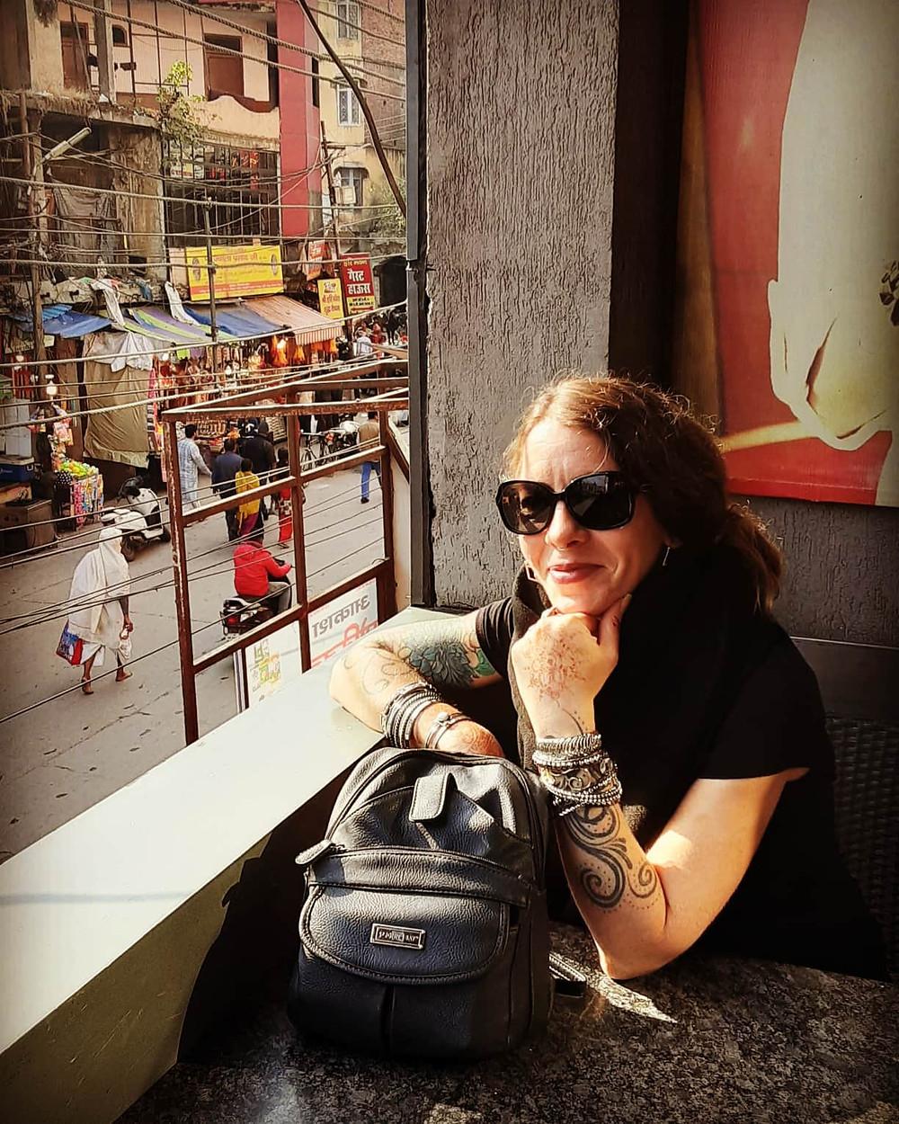 Cafe in Haridwar, India