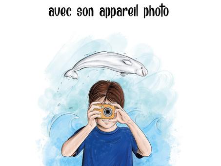 Philippe veut capturer des baleines avec son appareil photo de Cynthia Lisa Dubé