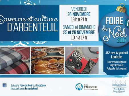 Foire de Noël Saveurs et culture d'Argenteuil 2017