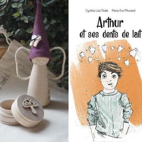 Combo Gnome fée des dents et livre