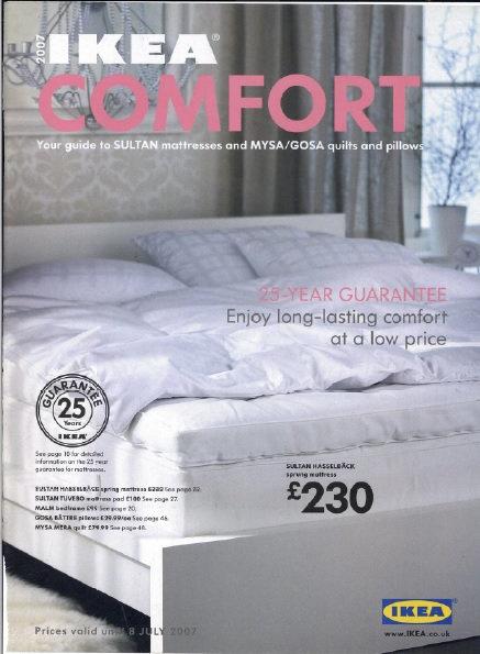 2007 IKEA Comfort UK