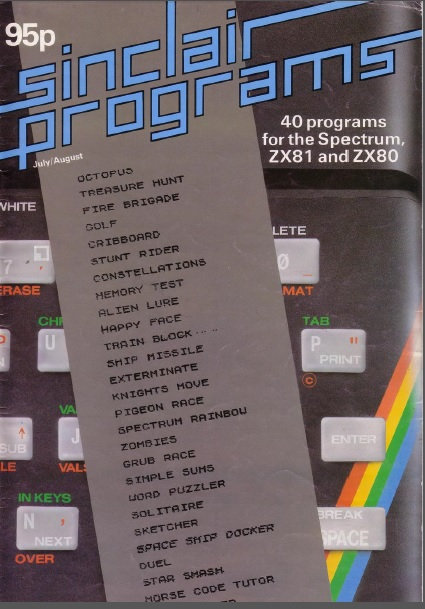 Sinclair Programs July/Aug 1982