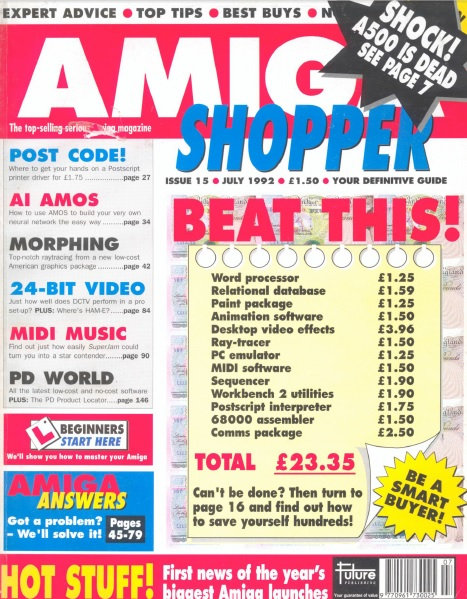 July 1992 Amiga Shopper
