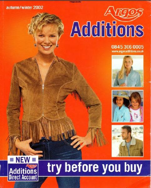 2002-2003 Argos Additions Autumn/Winter