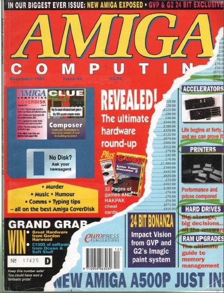 Amiga Computing Dec 1991
