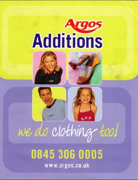 2001 Argos Additions Spring/Summer