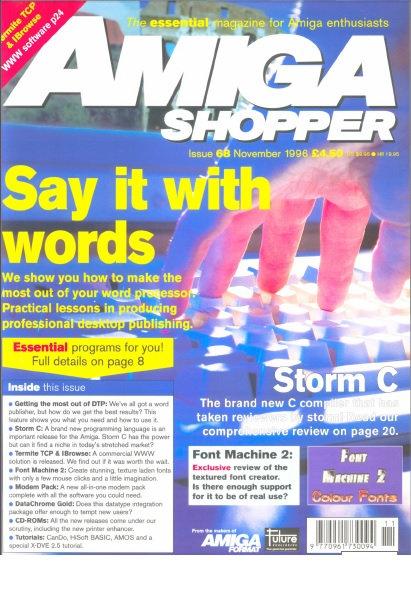 November 1996 Amiga Shopper