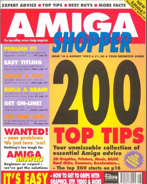 August 1992 Amiga Shopper