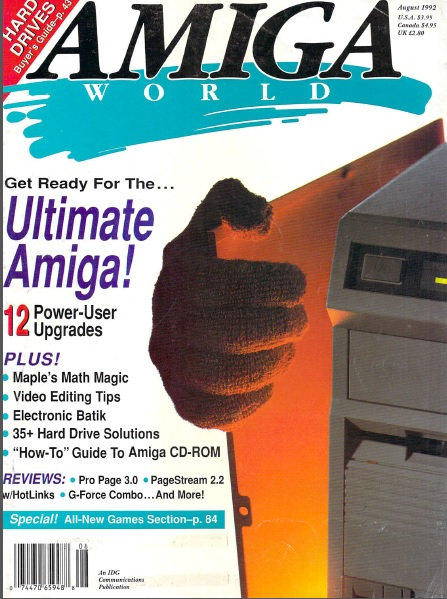 Amiga World Aug 1992