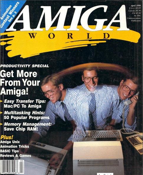 Amiga World April 1990