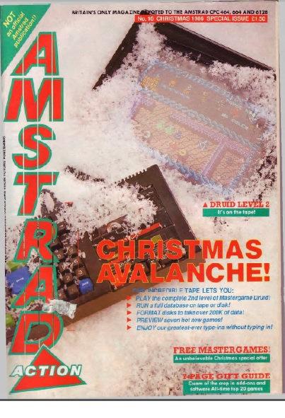 Amstrad Action Christmas 1986