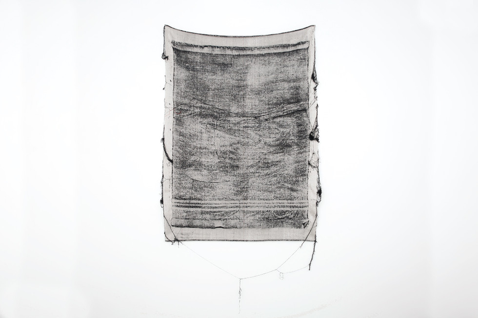 """John Paul Morabito Frottage 070 2018 cotton and wool 58""""x 43"""" Photo Credit: Alex Younger"""