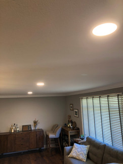 INSTALLED RECESSED LED CAN LIGHTS IN CEI