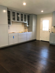 New Hardwood Flooring and Built-In Cabinets