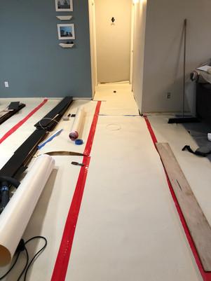 Floor Masking during work