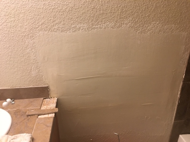 NEW MUDDED WALL