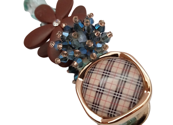 Hair clip / claw - Brown and Blue
