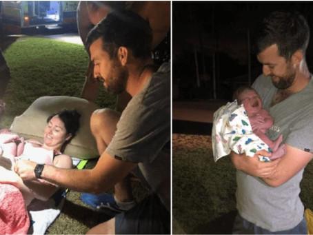 Mãe dá à luz na horta de casa com a ajuda do marido