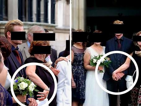 """A sogra segura a mão do noivo no casamento. """"Eu também sou sua esposa"""""""