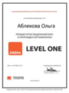 CEDIA, certificat, Аблекова Ольга