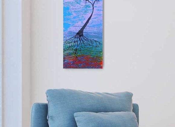Fluid Landscape Tree Painting